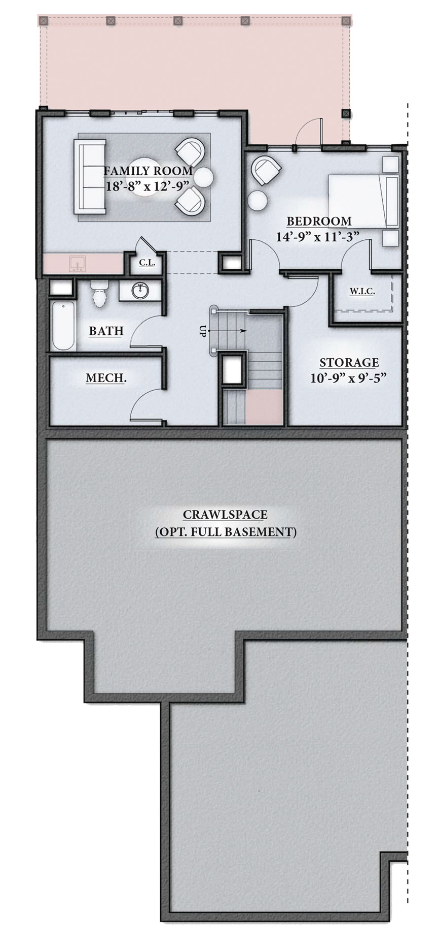 Westerly Floor Plan Lower Level Villages Mount Hope Bay RI